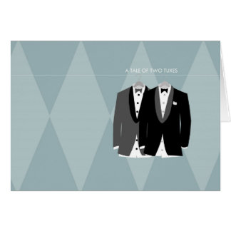 A Tale of Two Tuxes Card