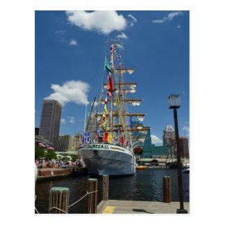 A Tallship in Baltimore Postcard