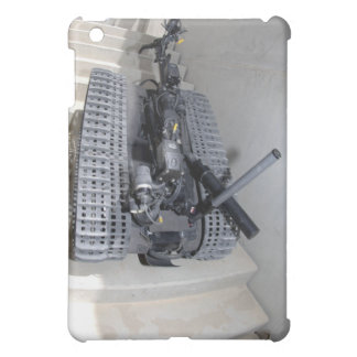 A Talon 3B robot unit climbing a flight of stai Cover For The iPad Mini