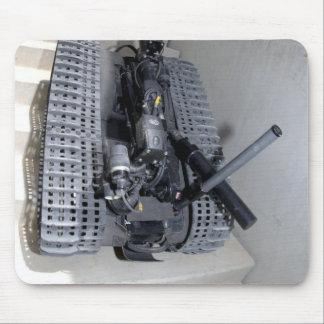 A Talon 3B robot unit climbing a flight of stai Mouse Pad