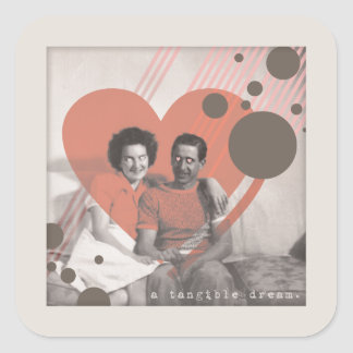 a tangible dream square sticker