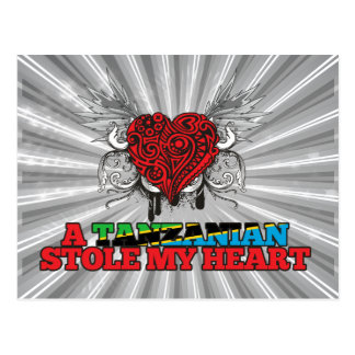 A Tanzanian Stole my Heart Postcard
