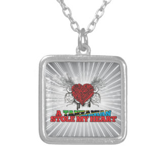 A Tanzanian Stole my Heart Silver Plated Necklace