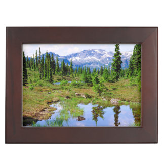 A tarn in the backcountry of Vancouver Island Keepsake Box