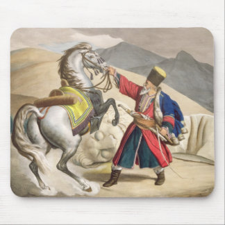 A Tartar with his Horse, engraved by the Thierry B Mouse Pad