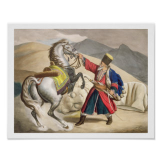 A Tartar with his Horse, engraved by the Thierry B Poster