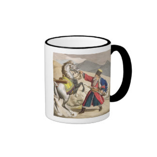 A Tartar with his Horse, engraved by the Thierry B Ringer Mug