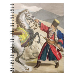 A Tartar with his Horse, engraved by the Thierry B Spiral Notebook