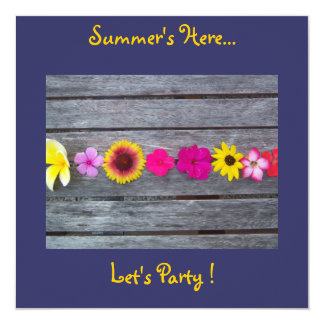 A Taste of Summer Homeware & Stationery Collection 5.25x5.25 Square Paper Invitation Card