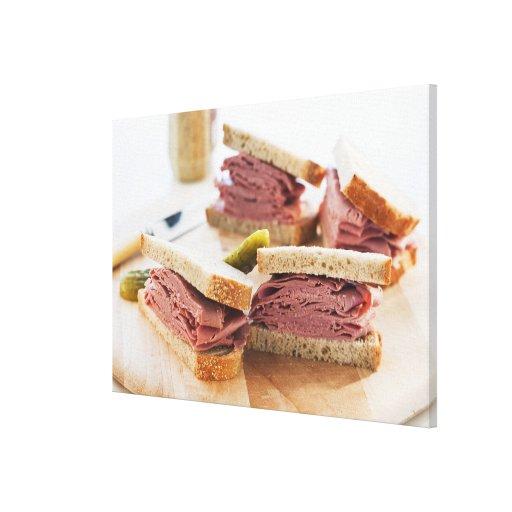 A tasty sandwich gallery wrap canvas