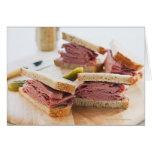 A tasty sandwich greeting card