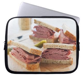 A tasty sandwich laptop sleeve