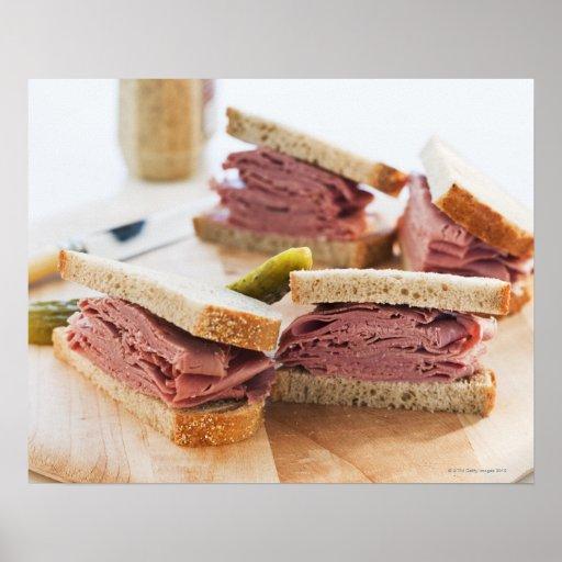 A tasty sandwich posters