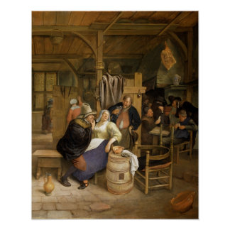 A Tavern Interior with Card Players Poster