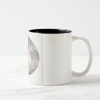 A Tea Garden, colour stipple engraving after Morla Two-Tone Coffee Mug