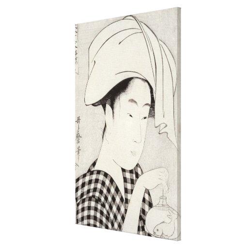 A tea-house in Ryogoku Canvas Print