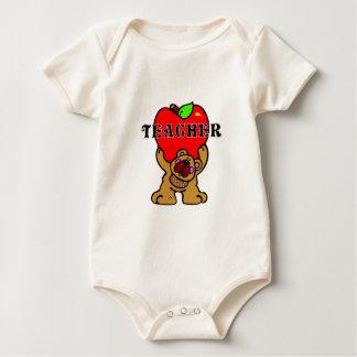 A Teacher Apple Bear Baby Creeper