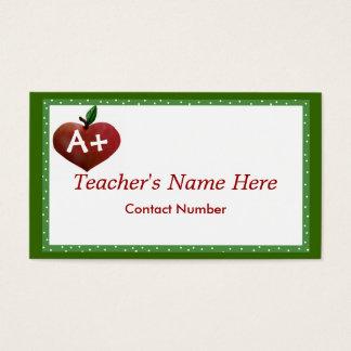 A+ Teacher business card