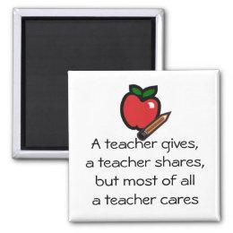 A teacher cares-Customized it Magnet
