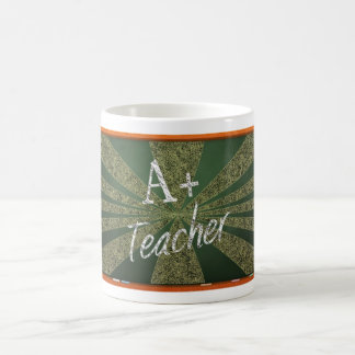 A+ Teacher chalkboard Coffee Mug