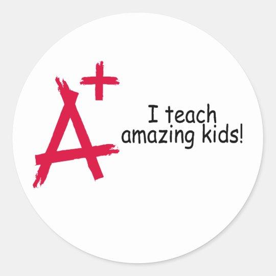 A+ Teacher Classic Round Sticker