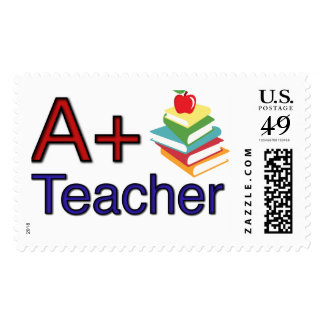 A+ Teacher Postage Stamps