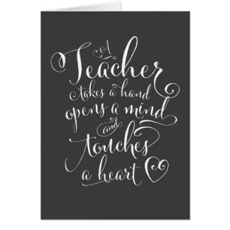 A Teacher Takes a Hand Opens a Mind Stationery Note Card
