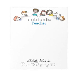 A Teacher's Custom Notepad