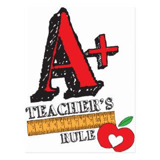 A+ Teachers Rule Postcard