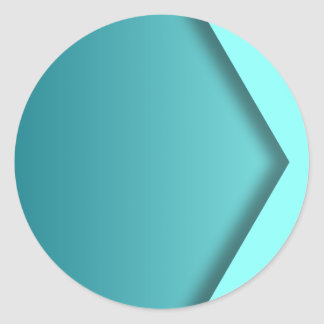 A  teal background classic round sticker