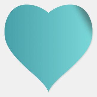 A  teal background heart sticker