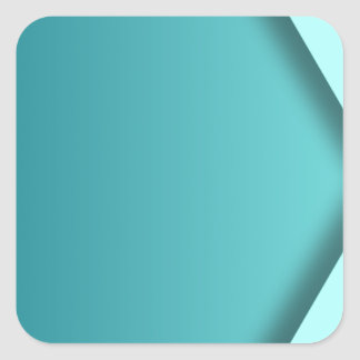 A  teal background square sticker