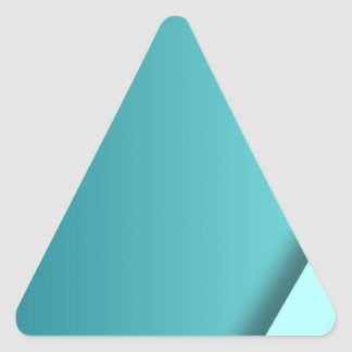 A  teal background triangle sticker
