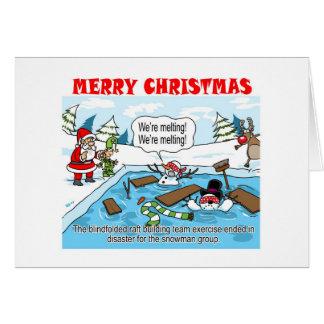 A Team Building Christmas card