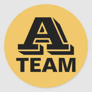 A Team Recognition Sticker