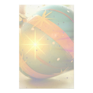 A Teardrop Shaped Christmas Ornament Stationery