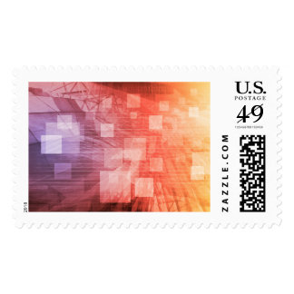 A Technology Industry Network As a Wallpaper Postage Stamp