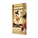 A Tedious Story by James Tissot Stretched Canvas Prints