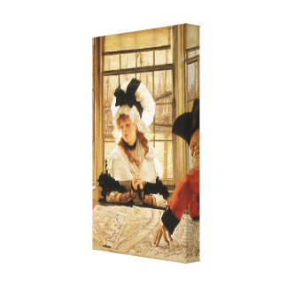 A Tedious Story by James Tissot Canvas Print