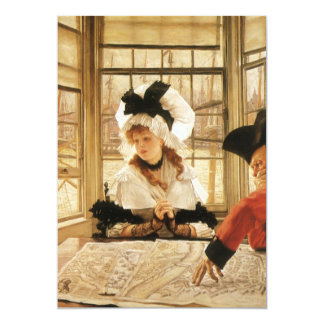 A Tedious Story by James Tissot 5x7 Paper Invitation Card