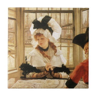 A Tedious Story by James Tissot Ceramic Tile