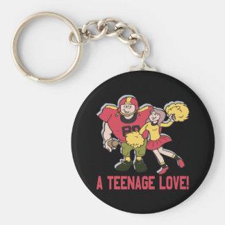 A Teenage Love Basic Round Button Keychain