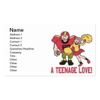 A Teenage Love Double-Sided Standard Business Cards (Pack Of 100)