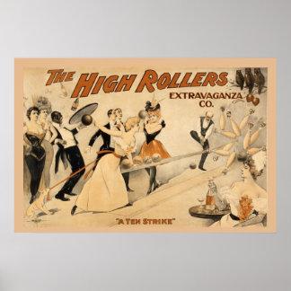 A ten strike, vintage bowling musical print