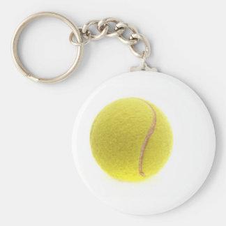 A tennis ball keychain