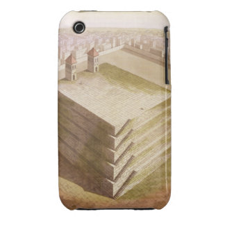 A Teocalli in Mexico (colour engraving) iPhone 3 Covers