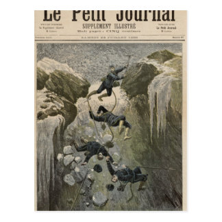 A Terrible Accident in the Alps Postcard