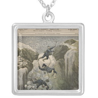 A Terrible Accident in the Alps Silver Plated Necklace