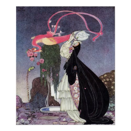 A Terrible Dream by Kay Nielsen Poster