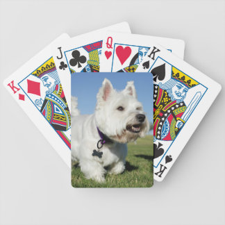 A Terrier playing out in the field Bicycle Playing Cards